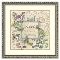 """Amanti Art """"Love Is Like a Butterfly"""" 22.5-Inch Square Framed Wall Art"""