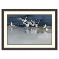 Amanti Art Serenity (Gulls) 45-Inch x 33-Inch Framed Wall Art