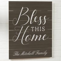 Bless this Home Wooden Slat Sign