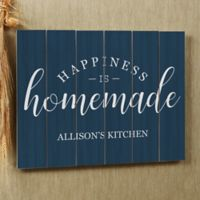 Happiness is Homemade 20-Inch x 16-Inch Wood Slat Sign