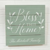 Bless this House Wooden Wall Slat Sign