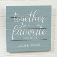 Together Is 12-Inch Square Wood Slat Sign