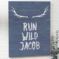 Tribal Inspired Wooden Slat Sign