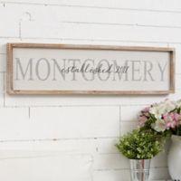 Family Name Long Barnwood Framed Wall Art