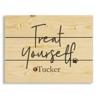 """Designs Direct """"Treat Yourself"""" 10.5-Inch x 14-Inch Pallet Wood Wall Art"""