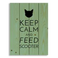Designs Direct Keep Calm Feed Cat 14-Inch x 20-Inch Wood Sign