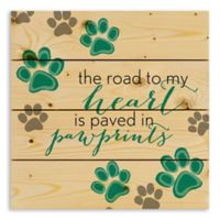 Designs Direct Heart Paved in Paw Prints 14-Inch Square Pallet Wood Wall Art