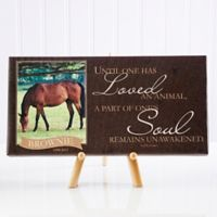 Love of a Pet Memorial Photo Canvas Wall Art
