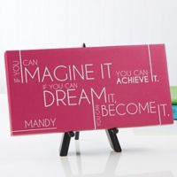 Inspiring Message 11-Inch x 5-Inch Canvas Wall Art