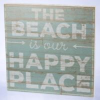Primitives by Kathy Happy Place 21-Inch Square Wood Wall Art