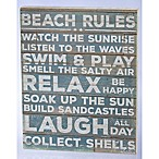 Primitives by Kathy Beach Rules 14-Inch x 18-Inch Wooden Box Sign