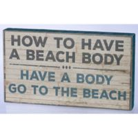 Primitives by Kathy Beach Body 14-Inch x 8-Inch Wooden Box Sign