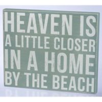 Primitives by Kathy By the Sea 18-Inch x 15-Inch Wooden Box Sign