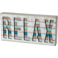 Primitives by Kathy Relax 15-Inch x 8-Inch Wood Wall Art