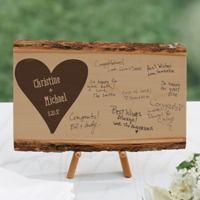 Wedding Guest Book Basswood Plank