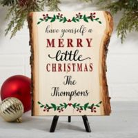"""Merry Christmas"" Plank Basswood 8-Inch x 11-Inch Wall Art"