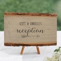 Rustic Wedding Reception Basswood Plank