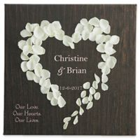 Heart of Roses 16-Inch x 16-Inch Canvas Wall Art