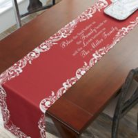 96-Inch Our Christmas Blessings Table Runner in Red