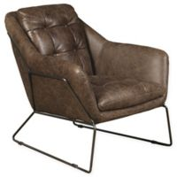 Pulaski Clara Leather Accent Chair in Brown