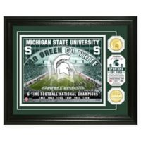 Michigan State University Football Field Bronze Coin Photo Mint