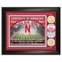University of Nebraska Football Field Bronze Coin Photo Mint