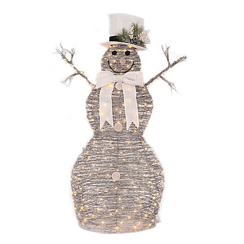 Outdoor Lighted Snowman 48 inch led lighted snowman bed bath beyond 48 inch led lighted snowman workwithnaturefo
