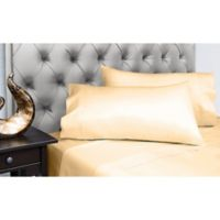 Spectrum Home Textiles 200-Thread-Count Organic Cotton Full Sheet Set in Butter