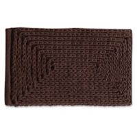 "VCNY Home 17"" x 24"" Baron Chenille Bath Rug in Chocolate"