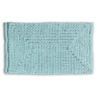 "VCNY Home 17"" x 24"" Baron Chenille Bath Rug in Blue"