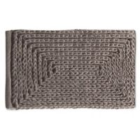 "VCNY Home 17"" x 24"" Baron Chenille Bath Rug in Taupe"