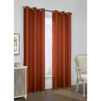 Thermalogic Prescott 84-Inch Grommet Window Curtain Panel Pair in Spice