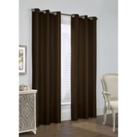 Thermalogic Prescott 84-Inch Grommet Window Curtain Panel Pair in Chocolate