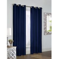 Thermalogic Prescott 63-Inch Grommet Window Curtain Panel Pair in Navy