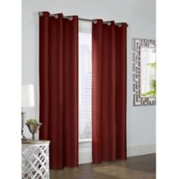Thermalogic Prescott 54 Inch Grommet Window Curtain Panel Pair In Burgundy