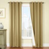 Nantucket 96 Inch Grommet Blackout Window Curtain Panel In Khaki