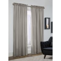Prescott 84-Inch Rod Pocket Window Curtain Panel Pair in Grey