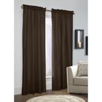 Prescott 84-Inch Rod Pocket Window Curtain Panel Pair in Chocolate