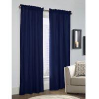 Prescott 84-Inch Rod Pocket Window Curtain Panel Pair in Navy