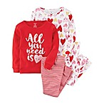 carter's® Size 18M Hearts All You Need 4-Piece Pajama Set in Red