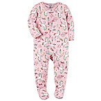 carter's® Size 12M Zip-Front Unicorn Footie in Pink