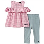 Tommy Hilfiger® Size 12M 2-Piece Gingham Top and Pant Set