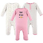 Hudson Baby® Size 3-6M 3-Pack Heart Union Suits