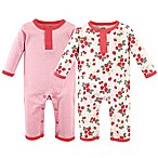 Hudson Baby® Size 3-6M 2-Pack Strawberry Union Suits