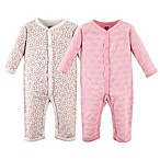 Hudson Baby® Size 6-9M 2-Pack Trellis Union Suits
