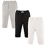 Hudson Baby® Size 3-6M 3-Pack Polka Dot Ruffle Pants in Silver