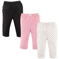 Hudson Baby® Size 12-18M 3-Pack Polka Dot Ruffle Pants in Pink/Black