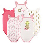 Hudson Baby® Size 9-12M 5-Pack Sleeveless Pineapple Bodysuits