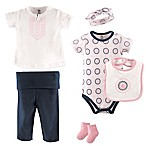 Yoga Sprout Size 6-9M 6-Piece Ornamental Layette Set in Pink/Blue