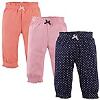 Hudson Baby® Size 6-9M 3-Pack Polka Dot Gathered Waist Pant in Navy